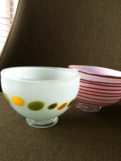 富山ガラス茶碗